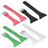 MagiDeal 4 Stk. Ersatz Sportuhren Armband aus Weiche Gummi Uhrband für Polar Ft4 Ft7 Ft Uhr