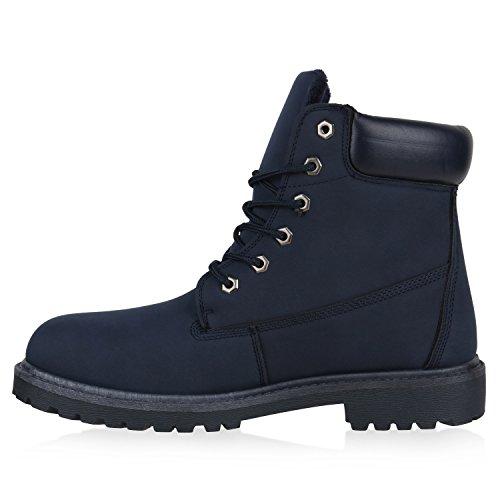 Botas Homens Azul Do Perfil Atados Escuro Trabalhador Azul Sapatos Único Fed 4F71nqUxF