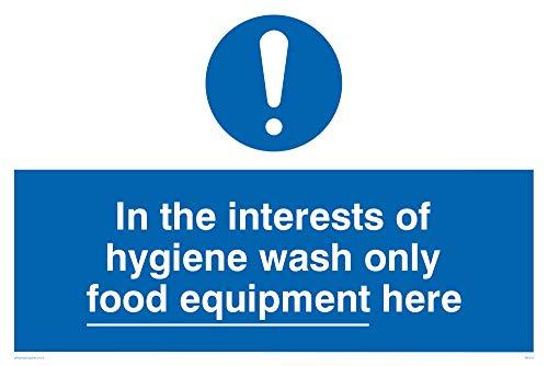 Viking segni mh210-a2l-3m lavare esclusivamente a fini di igiene alimentare attrezzature here Sign, 3mm, in plastica, 400mm x 600mm