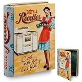 NATIVES 211376 C'est moi qui l'ai fait ! Livre boîte pour Fiche recette Métal Multicolore 14,5 x 4 x 19 cm