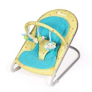 Natineo - Transat bébé LUNA - Jaune - Disponible en jaune et bleu