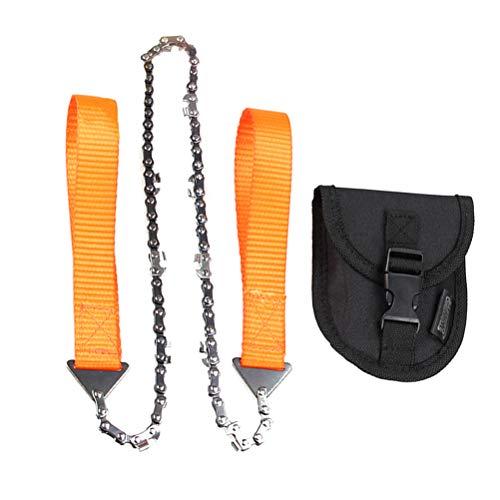 BESPORTBLE Taschen-Kettensäge tragbare faltende Handsäge Kettensäge Rückensägen mit Aufbewahrungskoffer für Wildnis Überleben Camping Baum Schneiden Jagd Outdoor Erkundung (Orange) (Baum Monitor)