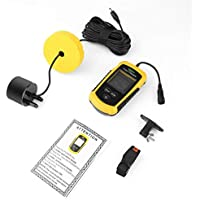 Detectoy Fish Finder, Lucky Portable Fish Finder Sonar Sounder Alarma Transductor Fishfinder 0.7-100m Fishing Echo Sounder con batería con Pantalla en inglés
