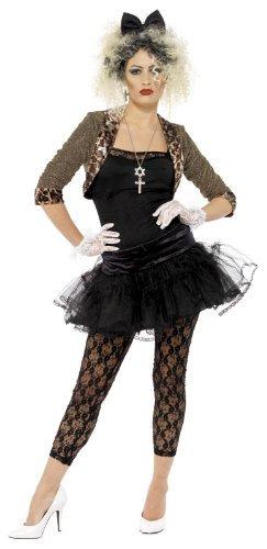 80er Child Wild Jahre Kostüm - Smiffys Karneval Damen Kostüm Wild Child Popstar schwarz 80er Jahre Gr.XL