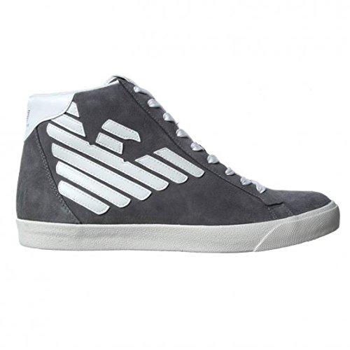 EA7 Emporio Armani New Pride sneakers alte grigio con logo catarinfrangente grigio uomo -43