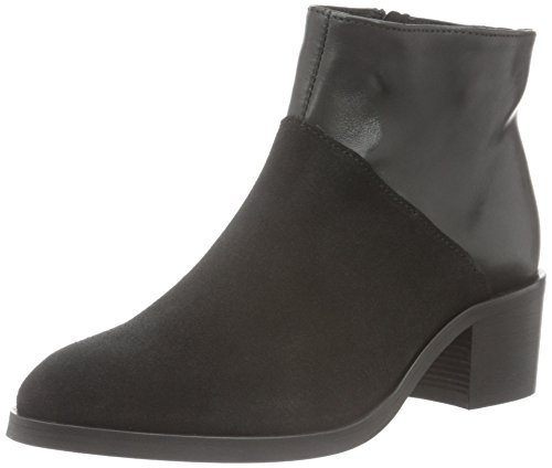 PIECES Psdabai Leather Boot, Stivaletti Donna, Nero (Black), 39 EU