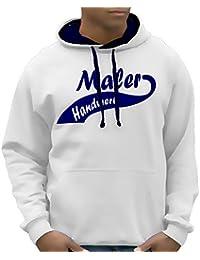 MALER HANDWERK T-Shirt oder Kapuzensweatshirt, viele Farben Gr.S M L XL XXL XXXL