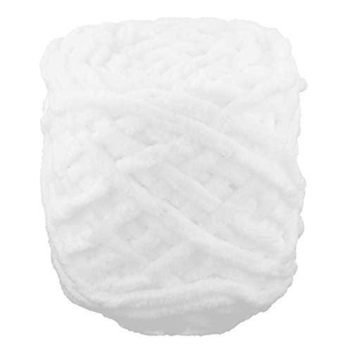 nk Polyester DIY Häkelarbeit Schal Pullover Strickgarn Schnur weiß 100g (Thanksgiving-handwerk Zu Machen)