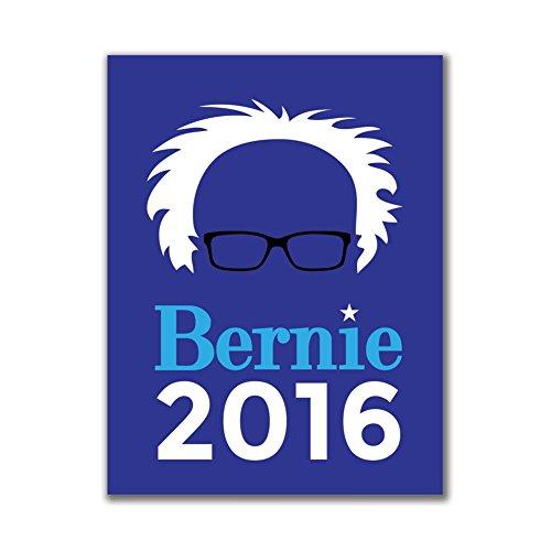 Wahl 2016 Bernie Sanders Haar minimalistisch Royal 4x3in.Rechteckige (Haar Nerd)