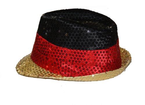 Preisvergleich Produktbild Rubies Fan Paillettenhut Deutschland Unisex Onesize Mehrfarbig