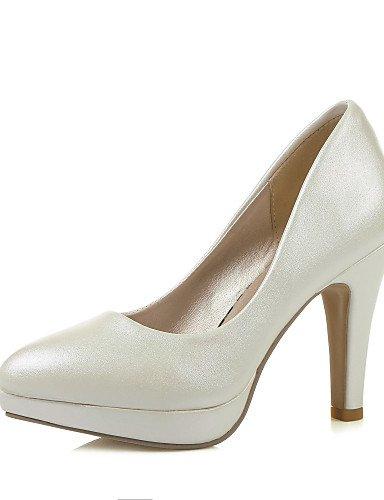 WSS 2016 Chaussures Femme-Habillé-Rose / Violet / Blanc / Argent-Gros Talon-Talons / Bout Pointu-Talons-Similicuir silver-us5 / eu35 / uk3 / cn34