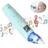 INTEY Aspiratore Nasale Neonato Elettrico con 3 Livelli Aspirazione, 2 Ugelli Sostituibili, Colori Flash e Musica, Regalo del Bambino