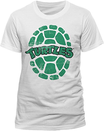 Teenage Mutant Ninja Turtles Herren Shell T-Shirt, Weiß, X-Large