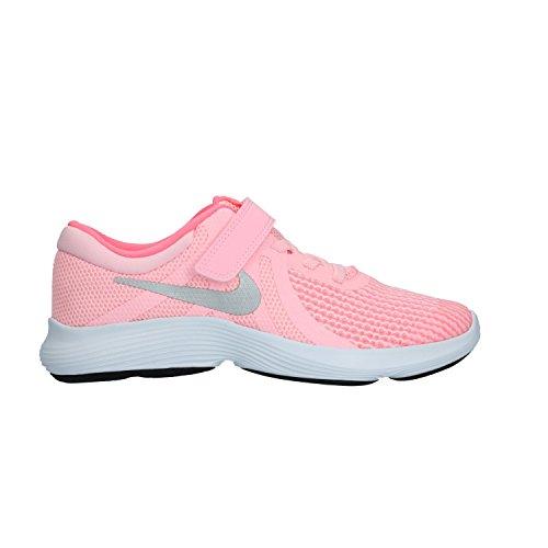Nike Unisex-Kinder Laufschuh Revolution 4, Rosa (Arctic Punch/Metallic Silver 600), 29.5 EU - Nike Mädchen 2 Revolution