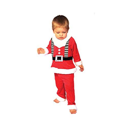 Festliche Jungen Weihnachten Kinder Santa Claus Anzug - Alter 1-3 Jah - Red - 23 (Snowboarder Kostüm)