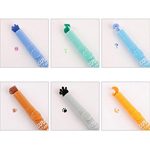 Ocamo Einzigartige Cartoon Pattern Seal Textmarker Fluoreszierende Marker Farbigen Marker zufällige...