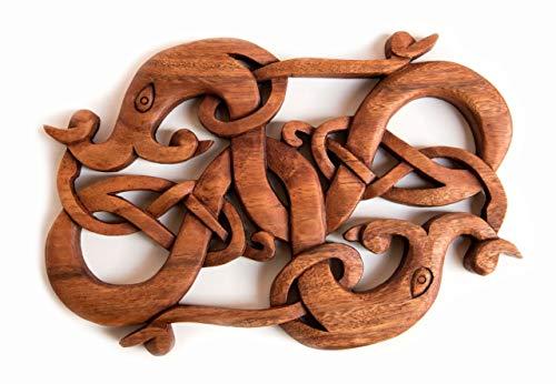 Windalf Symar - Figura Decorativa de dragón Vikingo (Madera, 31 cm)