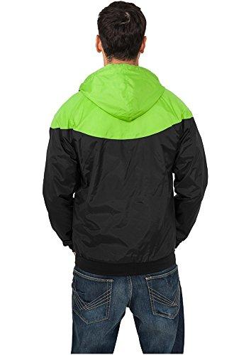 Urban Classics Herren Jacke Bekleidung Arrow Windrunner black-limegreen (TB148-00005)