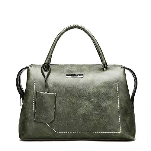 c7bc73346a wangkk Schultertasche Messenger Bag Damen Tasche Big Bag Wild  Schultertasche Messenger Bag Oil Wax Leather Tote