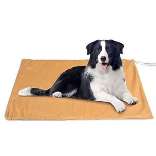 PEDY Heizdecke für Haustiere mit Automatische Konstanttemperatur 35-42 Grad, 60x50cm Wärmematte/Heizkissen/Heizmatte/Wärmedecke für Hunde Katzen Sicherheit Indoor Bett