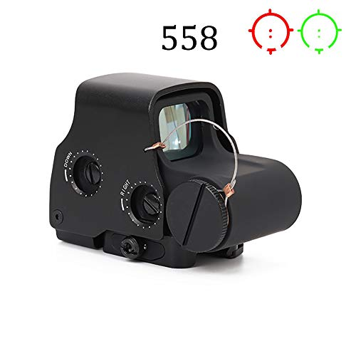 Laecabv 558 Optical Sight Scope Holographic Reflex Sight Green Red Dot Sighting Mirror Telescope Device Airsoft Range fit on 20mm Rail mounts