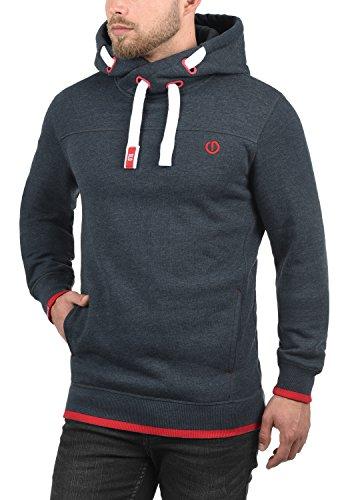 SOLID BenjaminHood Herren Kapuzenpullover Hoodie Sweatshirt mit optionalem Teddy-Futter aus hochwertiger Baumwollmischung Meliert Insignia Blue Melange (8991)