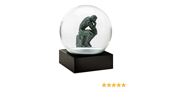 CoolSnowGlobes Boule /à neige The Thinker