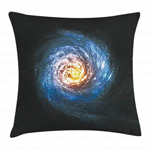 gatetop Galaxy Dekokissen Kissenbezug Bunten Nebel Spirale Lichter im Weltraum Stardust Orbit Infinity Universe Print Kissenbezug 18