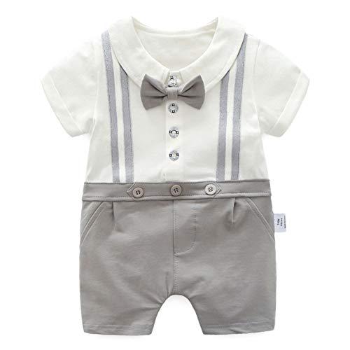 mi ji Baby Herr Bodysuit Kreative Hemd Weste Bowtie Entwurf Overall Lustige Kleinkind-Säuglings Overall Strampler Overall-Baby-Kostüm für Jungen 66cm / - Kreative Kleinkind Jungen Kostüm