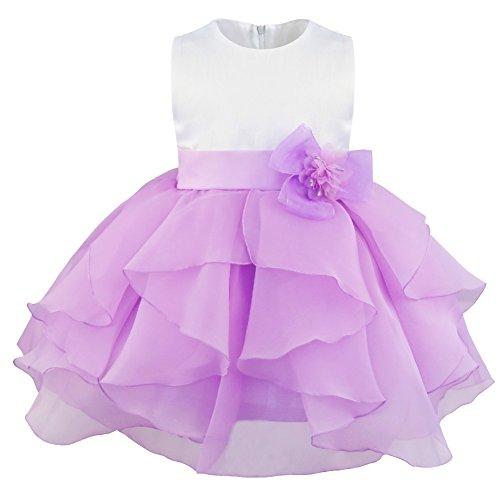Freebily Süßes Baby Mädchen festlich Kleid Blumenmädchenkleid Ärmellos Organza Tütü...
