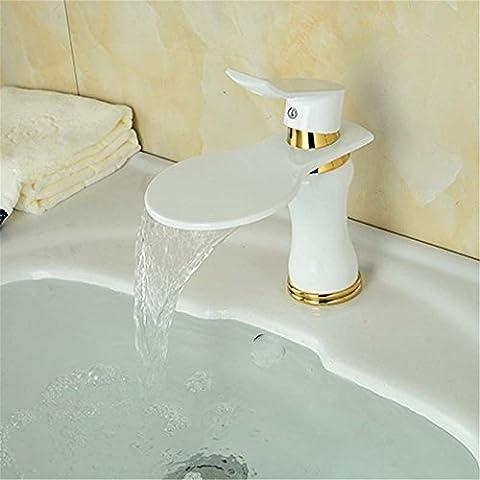 MIAORUI robinet à levier unique robinet cuivre européenne mixte bassin bassin noir et blanc