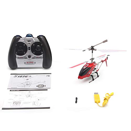 Syma S107G Gyro Metall Infrarot 3CH RC Drone Mini Hubschrauber Spielzeug Geschenk RTF Rot - Helicopter Rot Syma