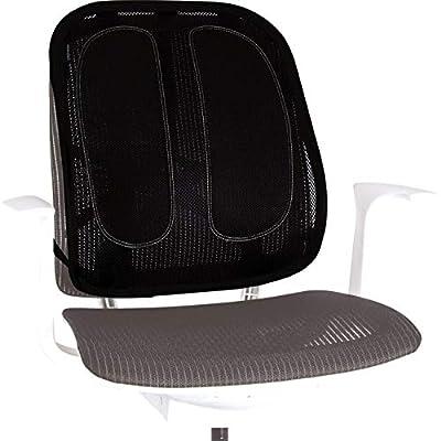 Fellowes - Mesh Office Suites - Respaldo Ergonómico de Rejilla - Cojín con Soporte Lumbar de Malla para Apoyo de la Espalda para Cualquier Silla. Mejora la Postura, Alivia el Dolor de Espalda y Reduce la Fatiga - Certificación FIRA. Color Negro