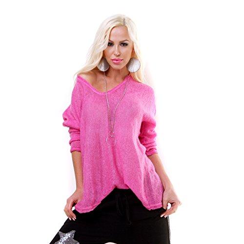 Fashion - Pull - Femme rose bonbon