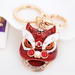 Emaille Einhorn Kopf Schlüssel verheißungsvollen 7Farbe Lion Head Schlüsselanhänger Tasche...