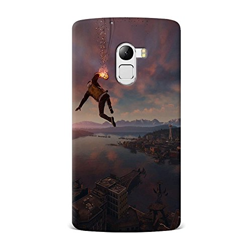 Lenovo K4 Note Case, Lenovo K4 Note Hard Protective SLIM Printed Cover [Shock Resistant Hard Back Cover Case] for Lenovo K4 Note - Infamous Second Son Smoke Ability City View  available at amazon for Rs.299