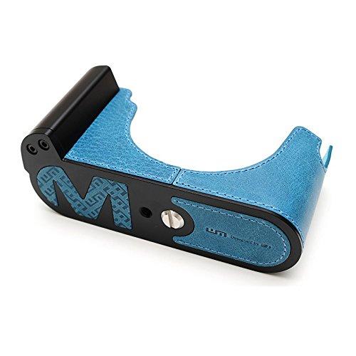 LIM\'S Kameratasche BZW. Fototasche für Leica M/M-P (Typ 240) Ledertasche aus italienischem, pflanzlich gegerbten Bullen Crust-Leder, mit schwarz eloxiertem Aluminium Boden, in Vintage Blau