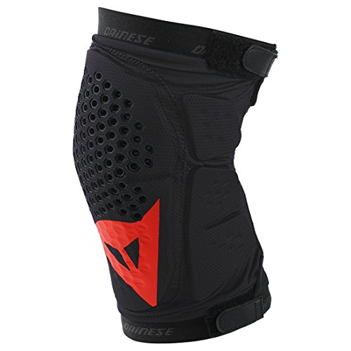 dainese-trail-skins-knee-guard-ginocchiere-nero-rosso-l
