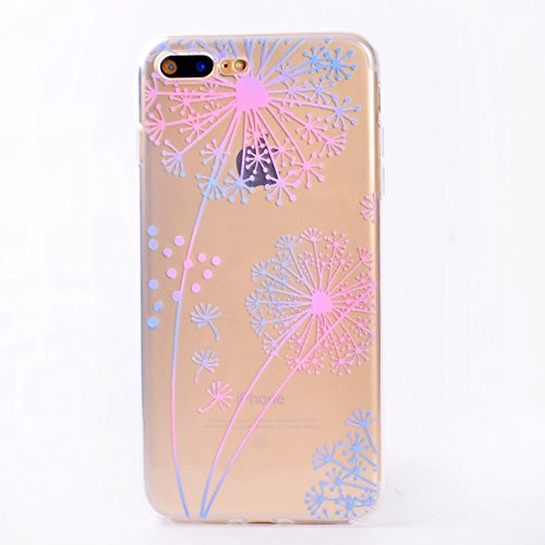 iPhone 7 Plus Cover , YIGA Dente di leone Super Sottile Cristallo Chiaro Case Trasparente Silicone Morbido TPU Custodia per Apple iPhone 7 Plus (5.5 pouces) TT3