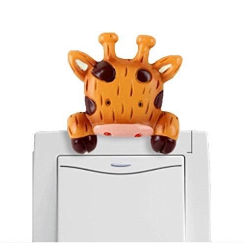 ichtschalter Stickers Schalter-Sets Cover Home Deko Light Switch Aufkleber (Giraffe) (Light Switch Cover)