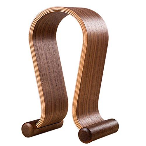 SAMDI Kopfhörerhalter Holz Halterung Walnussholz Omega Kopfhörer Ständer Gaming Headset Halter Aufhänger