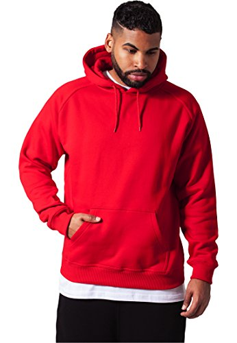 Preisvergleich Produktbild Urban Classics Blank Hoody TB014,  size:M,  Farbe:rot