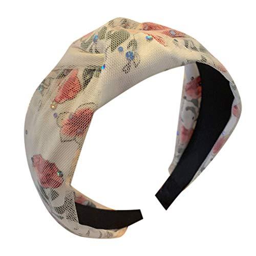 kolila Günstige Stirnband Haarspangen Clearance!!!Damen Mesh Stretchy Breitrandige Accessoires Stirnbänder Haarband(Weiß)