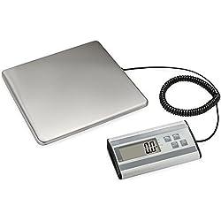 Smart Weigh Balanza Postal De Uso Intenso con Plataforma Larga de Acero Inoxidable de larga duración, Capacidad de 200 Kg, Balanza para Paquetes con Cordón Extensible y USB