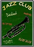 FRENCH VINTAGE METAL SIGN 40x30cm JAZZ CLUB AMBIANCE TRUMPET