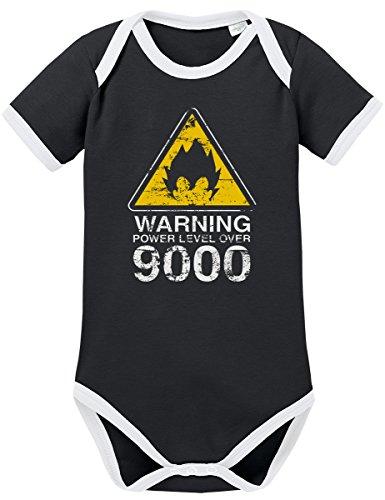 TSP Warning Power Level over 9000 Kontrast Baby Body 68 Schwarz