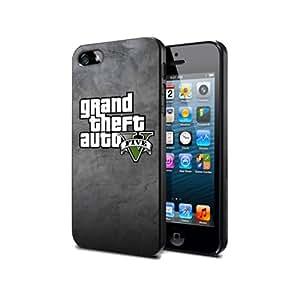 GTA8 Grand Theft Auto V 5 Game Silikon Schutzhülle für Sumsung S5 Hülle Silicone Cover Case Black@UTMSHOP