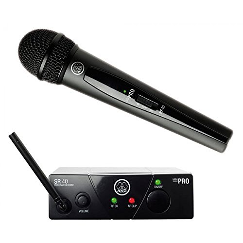 AKG Pro Audio WMS40 Mini Vocal Set radio microfono wireless per canto, presentazioni, karaoke ecc..