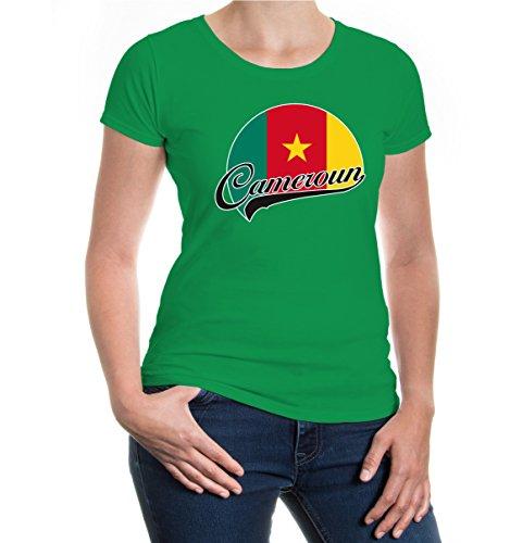 buXsbaum® Girlie T-Shirt Kamerun-Logo Kellygreen-z-direct