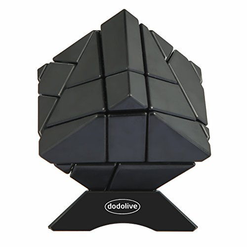 DODOLIVE 3X3X3 ABNORMITY CUBE GHOST CUBE INTELLIGENCE STICKERLESS SPEED PUZZLE CUBE ULTRA SMOOTH MAGIC CUBE BLACK